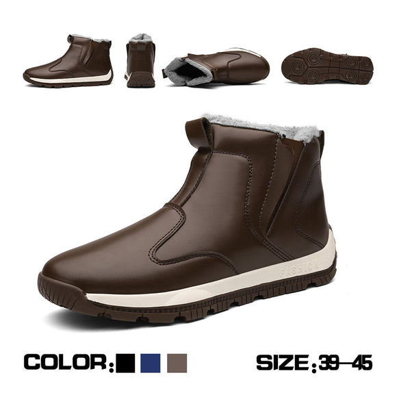 Men's High Wool Cotton Warm Snow Boots