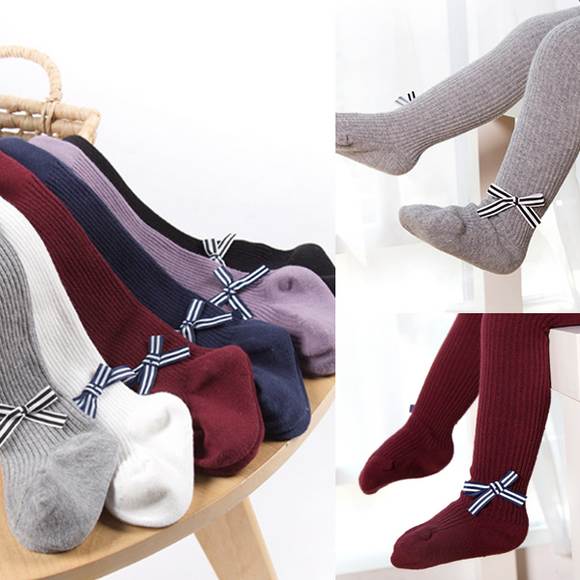 Bow Thick Warm Panty-hose Dancing Tights Combed Cotton Baby Socks Winter Socks