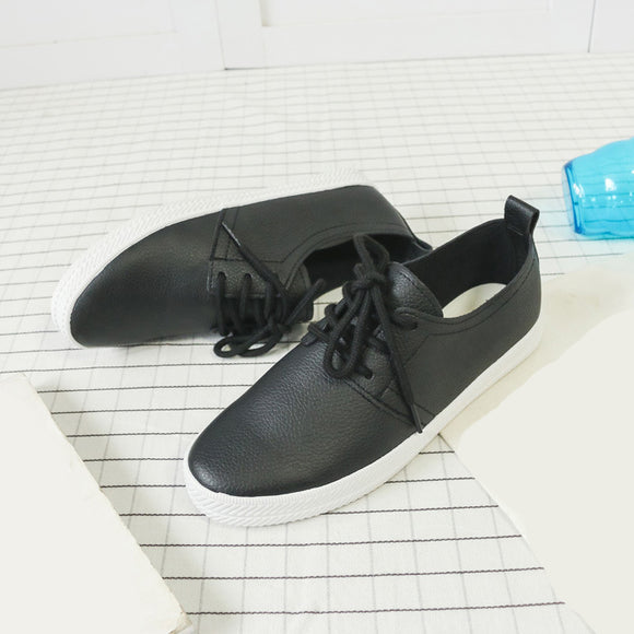 Women's PU Lace Casual Shoes Flats