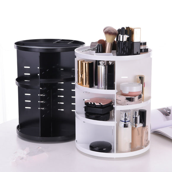 360 Degree Rotation Skin Care Plastic Shelf
