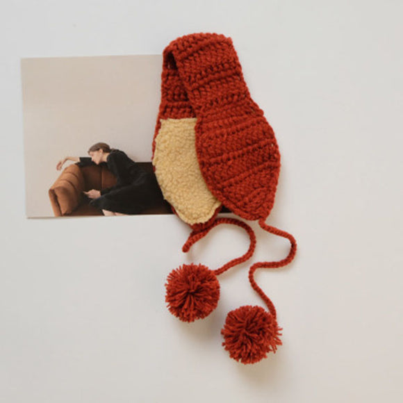 Creative Autumn Winter Keep Warm Knitted Caddice Earmuff