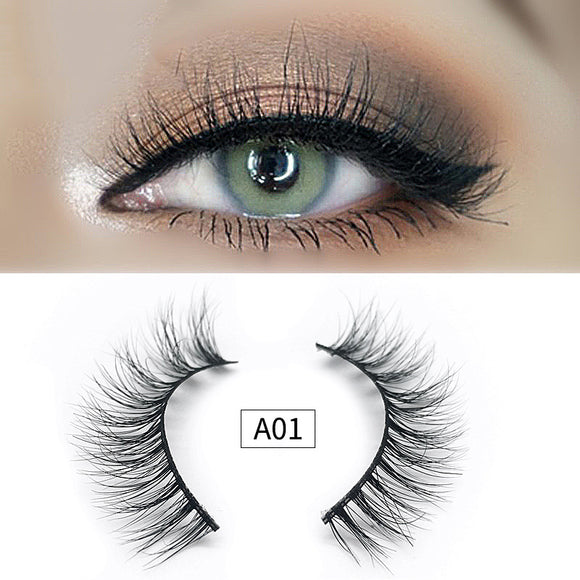 A Pairs Of Dense Type Mink Hair False Eyelashes