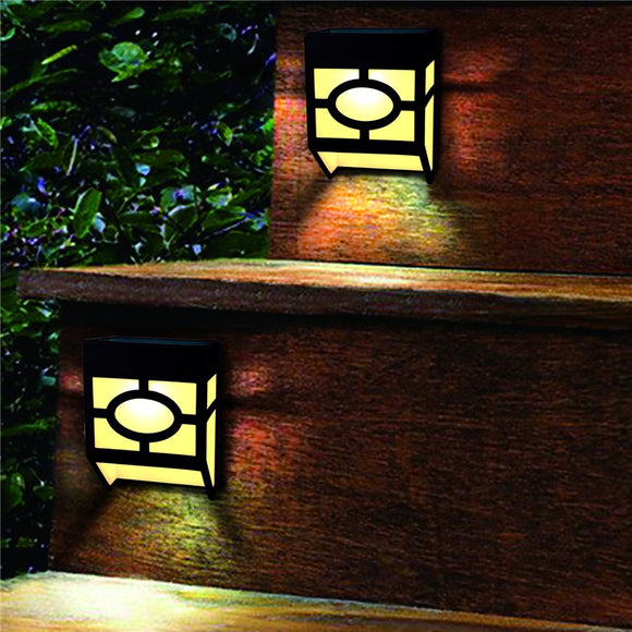 2led Solar Light Sensor Waterproof Lamp For Fence Wall Home Garden Path Yard Stairs Decoration