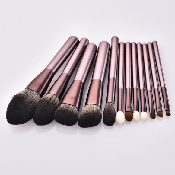 12pcs eyeshadow eyebrow makeup brush blush powder cosmetic brush makeup tools
