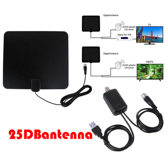 Indoor Digital Tv Antenna With Signal Amplifier Booster Hdtv 4k Hd Antenna