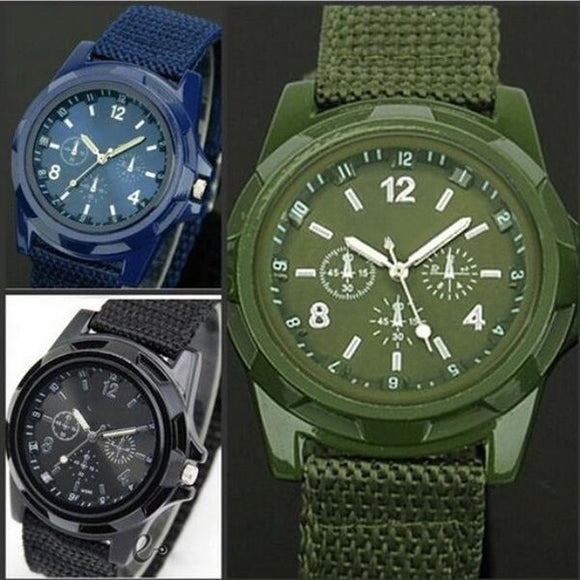 Fashion Outdoor men's woven belt watch army sports watch