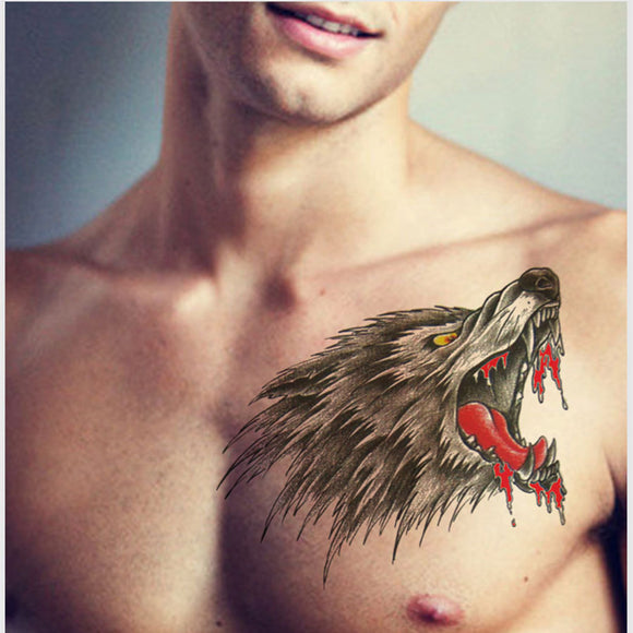 22*15CM Big Body Art Arm Chest Waterproof Tattoo Stickers Temporary Tattoo
