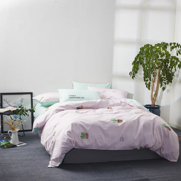 Cotton Twill Printed Four-piece Cotton High-density High-density Bedding Package