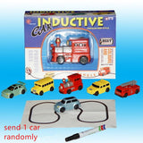 Inductive Car Diecast Vehicle Magic Pen Toy Tank Truck Excavator Construt Follow Gifts for Kid