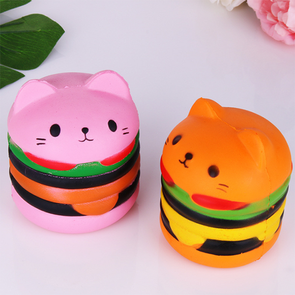 Lovely Hamburger Scented Squishy Slow Rising Squeeze Simulation Toy Anti Stress Soft Toy Gifts
