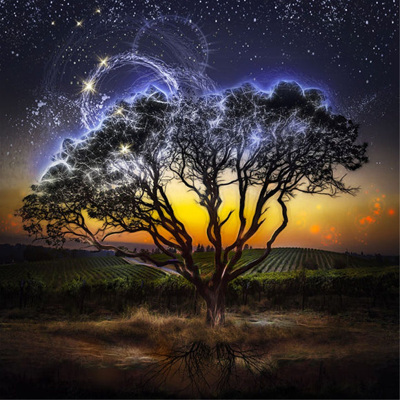 5d Diamond Painting Luminous Tree Cross-stitch Crafts Diy Mosaic Painting
