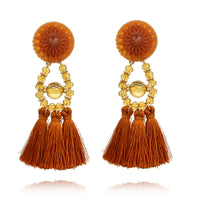 1 Pair Retro Boho Wedding Women Tassel Dangle Drop Fringed Earring Fashion Accessories