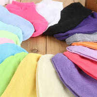 1 Pair Women's Candy-colored Female Socks Solid Color Ankle Socks