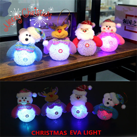 Glowing Eva Little Snowman Christmas Tree Pendant Christmas Decorations