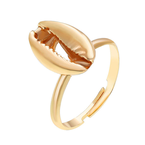 1PC Women Bohemia Shell Shape Alloy Rings