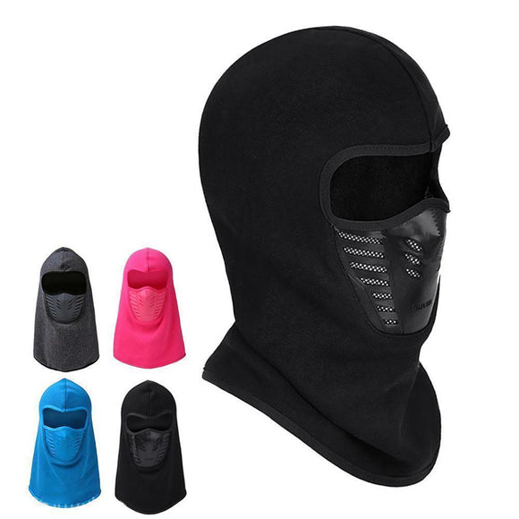 Winter Outdoor Riding Mask Cap Thickening Fleece Cap Bib Face Warm Windproof Hat Headgear Mask