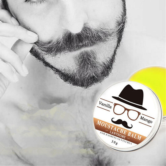 Natural Organic Mustache Wax Vanilla and Mango Scented Beard Styling Balm