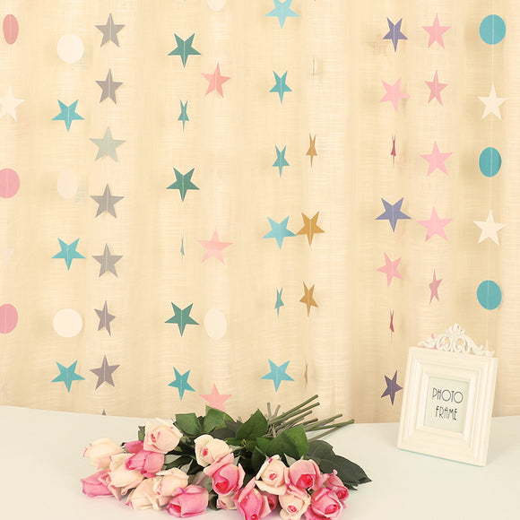 1 Pcs Baby Birthday Party Decoration Gilt Pentagram Flag Festival Party Decorate Star Pull Flower