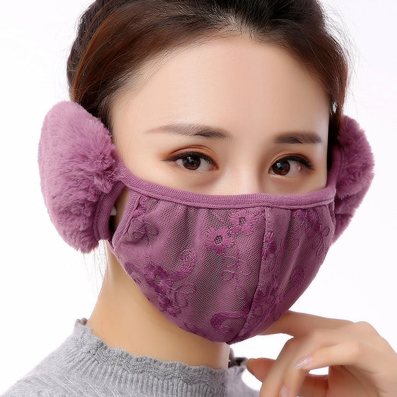 Creative Winter Autumn Keep Warm Cold Proof Plush Masks Earmuff