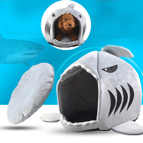 Autumn And Winter Round Room Cartoon Shark pet nest