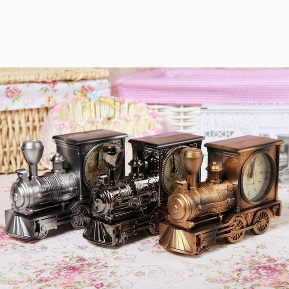 Student's Gift Birthday Gift Locomotive Alarm Clock Home Decorator Crafts