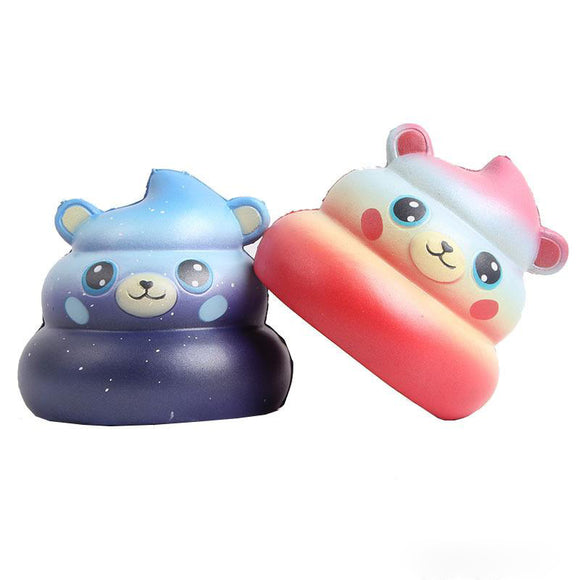 Cute Stool Bear Squishy Slow Boost Cartoon Doll Cream Scented Toy