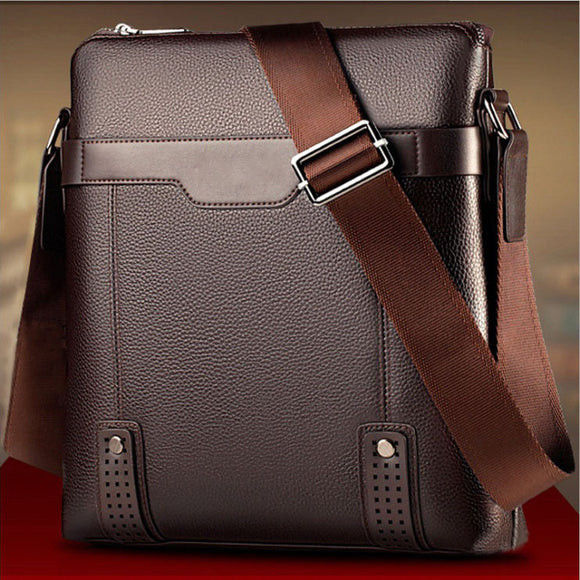 Zipper Bags Messenger Bags Pu Leather Casual Shoulder Bag Man Briefcase