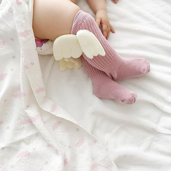 Kawaii Angle Wings Cotton Blend Kids Socks Baby Breathable Boys Girls Socks For Children Sock