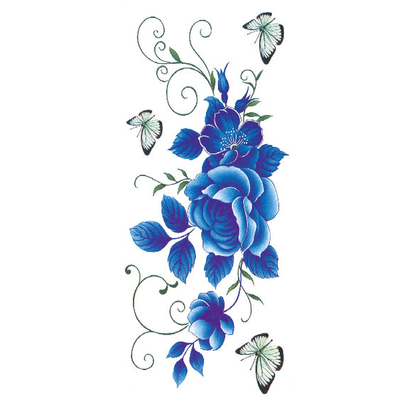 9*19CM 3D Body Art Flowers Waterproof Temporary Tattoo Stickers