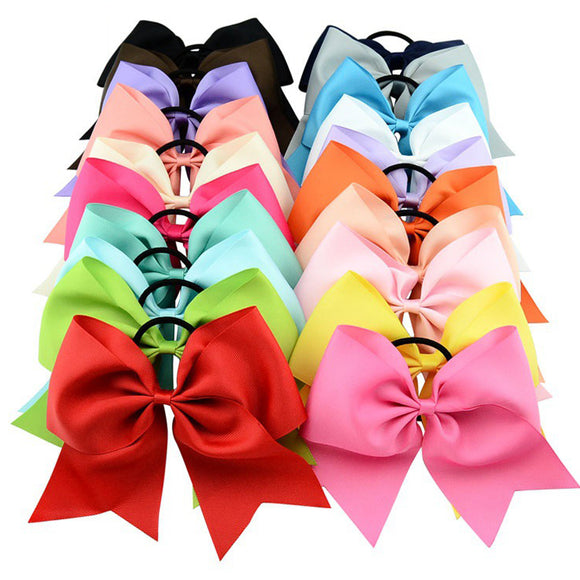 Kids Girls Round Tail Hairband Set Large Bowknot Hair Ring Hair Accessories