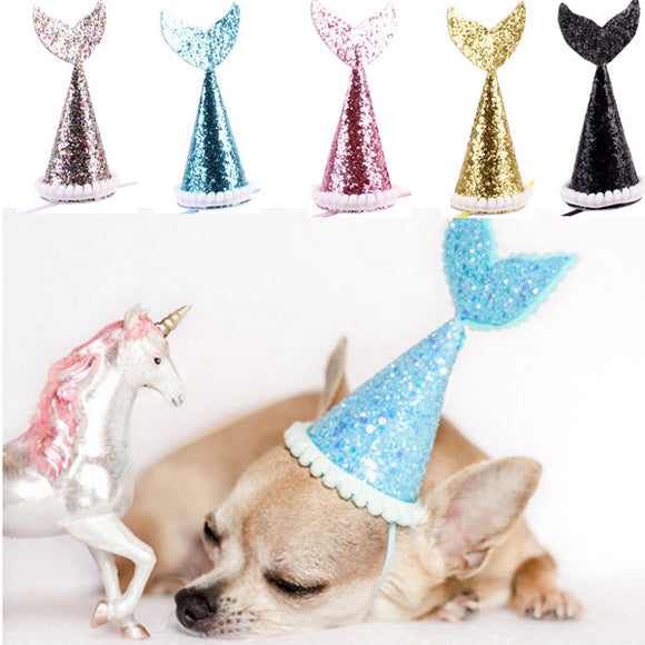 Dog Birthday Decoration Solid Color Small Bow Cap