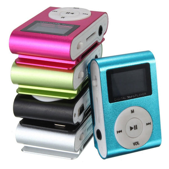 Mini USB Clip MP3 Music Media Player LCD Screen Support TF Card