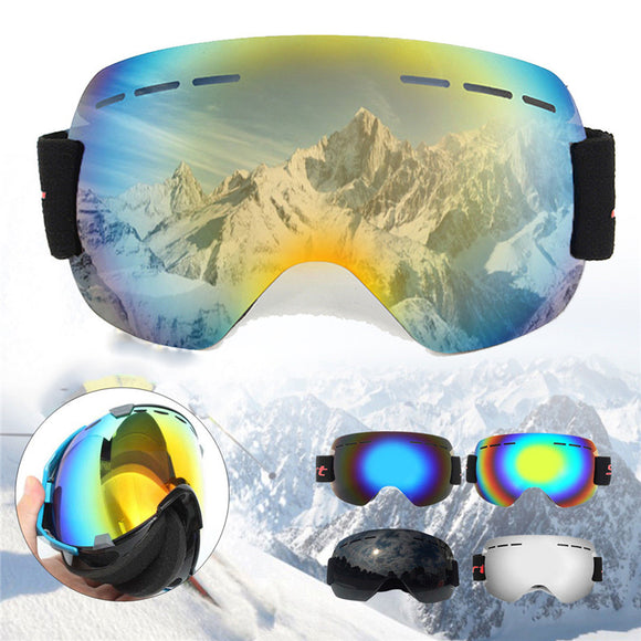 Ski Anti-fog And Sand-proof Large Spherical Glasses For Men And Women Adult Climbing Snow Goggles