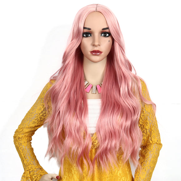 Long Center Parting Wavy Charming Synthetic Wig