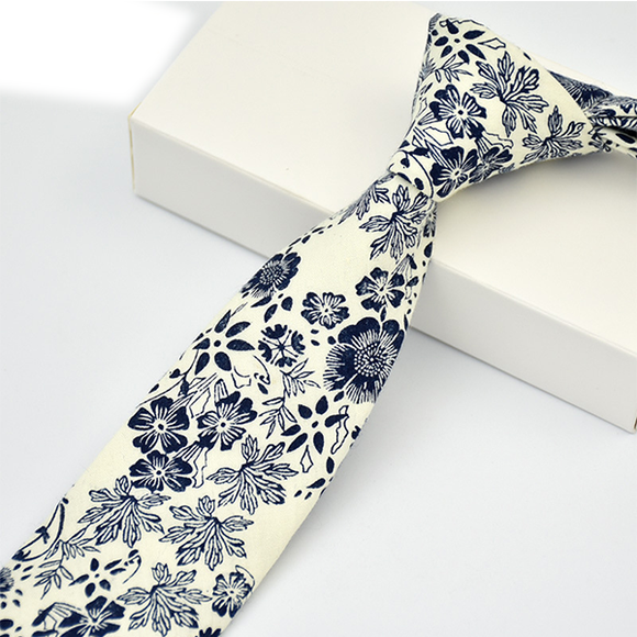 6cm Men's Floral Neck Tie Casual Fashion Ties For Mens Wedding Party Flower Neckwear Tie