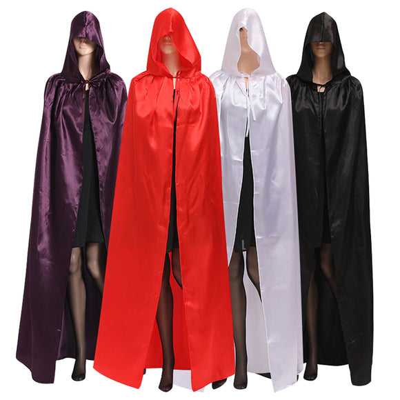 4 Colors Available Witch Prince Satin Halloween Cloak
