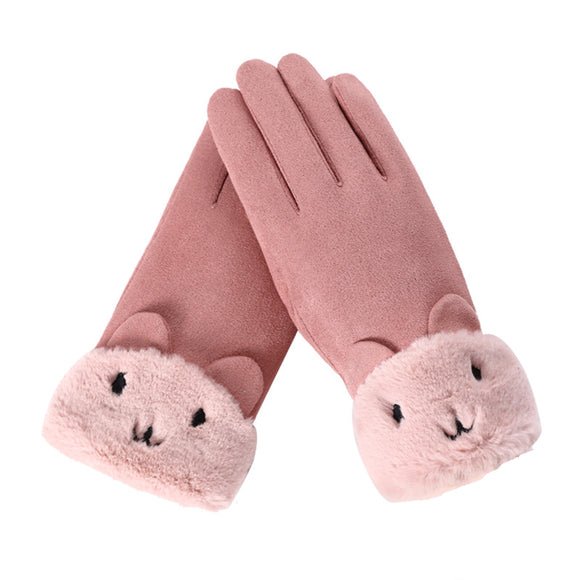 Autumn And Winter Women's Warm Touch Screen Gloves