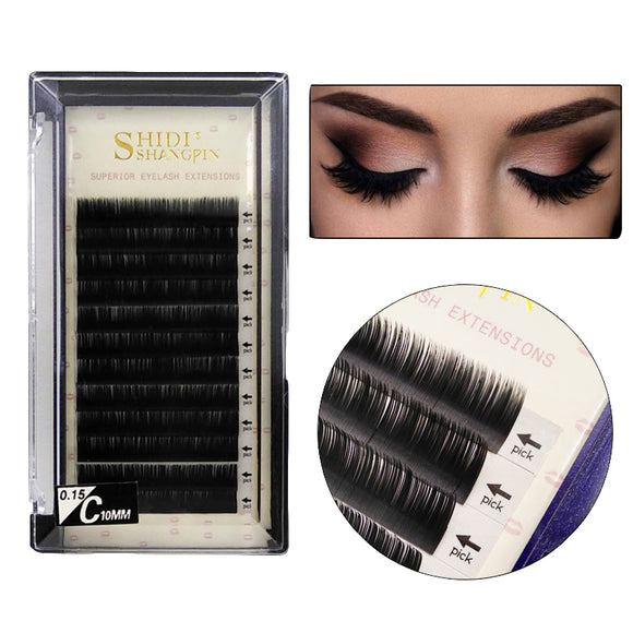 Manual Thick Super Soft Natural Graft Eyelashes 10 MM