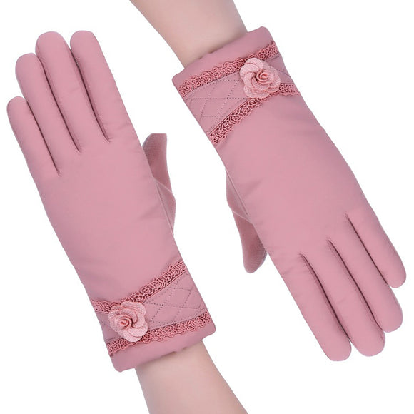 Winter Women's Outdoor Windproof Warm Touch Screen Gloves