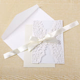 10 pcs Butterfly Laser Cutting Technology Invitation Letter Wedding Invitation Card Holiday Greeting