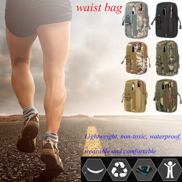 Multifunction Versatile Waist Bag Outdoor Wrist Belt Running Sport Nylon Bags Pack Mountaineer
