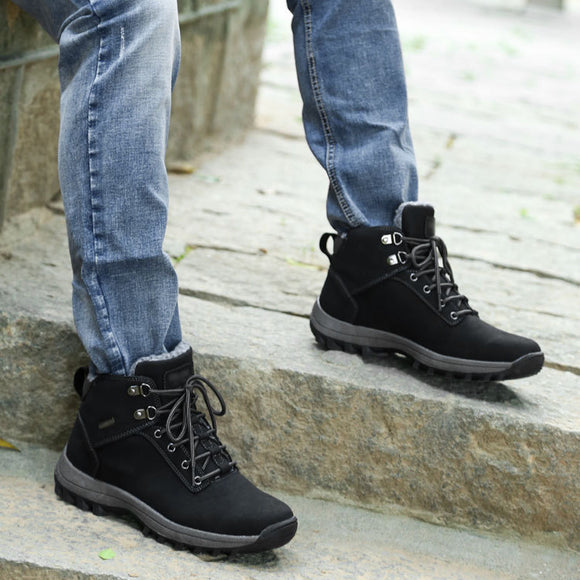 Men's Fashion Winter Skidproof Plus Size Snow Boots Sports Shoes
