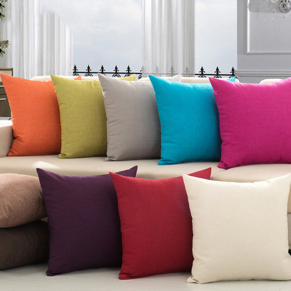 45*45cm Pillow For Pillowcase Of Pure Colored Linen Sofa Home Textiles