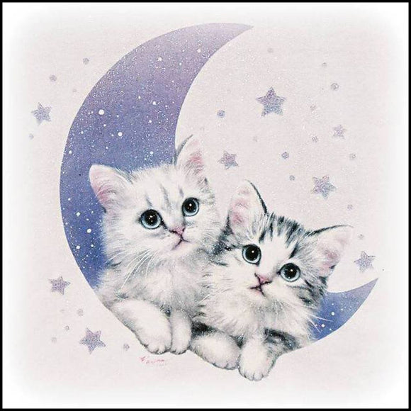 5d Diy Animal Diamond Painting Cat Cross Embroidery Crafts Ornaments Mosaic Painting