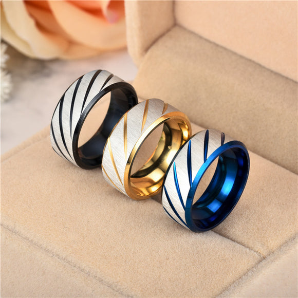 1PC Fashion Simple Stainless Steel Ring