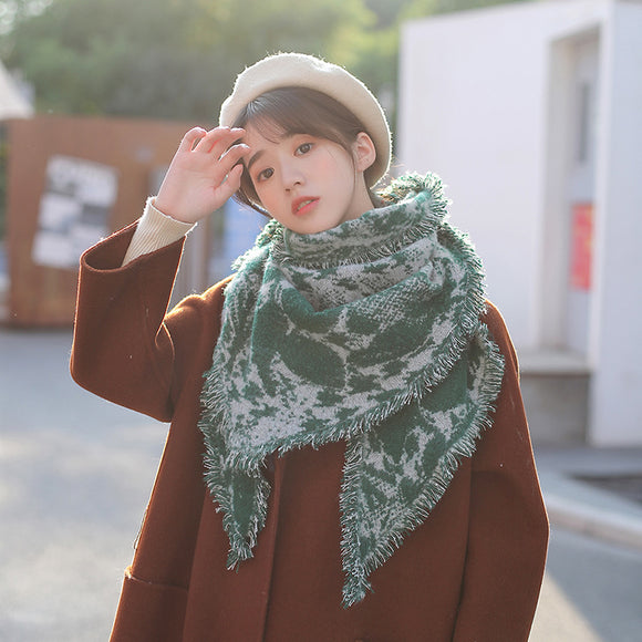Autumn And Winter Thickening Warm Triangle Scarf