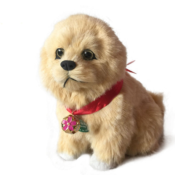Simulation Dog Will Be Called Plush Pet Birthday Gift Model Decoration