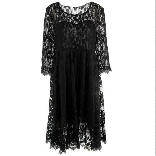 Black Lace Maternity Dresses Long Sleeve Pregnancy Dresses Clothes for Pregnant Women Auntumn Summer