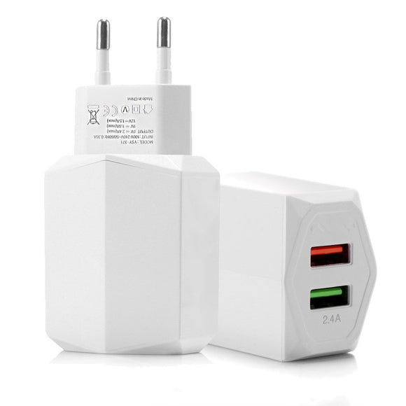 2Ports Quick Charge 3.0 USB Charger for iPhone Samsung QC3.0 Travel Charger