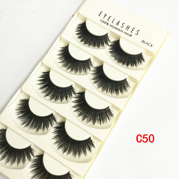 5 Pairs Multiple Layers Of Encrypted False Eyelashes